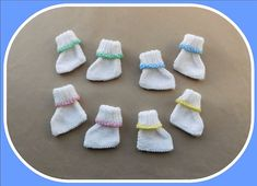 Neat Little Feet One of my friends asked me if I would be able to find time to knit a couple of pairs of premature baby booties in a hurry! She wanted to gift them to a new mum who has just had tiny