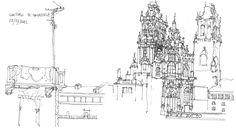Pablo Lopez Prol. Cathedral, Santiago de Compostela, 2012.