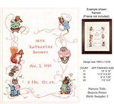 beatrix potter Baby Cross Stitch Patterns