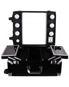 table de maquillage miroir valise de maquillage pinterest tables. Black Bedroom Furniture Sets. Home Design Ideas