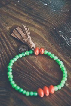 BAHAY bracelet // Green Jade / Bahay Seeds / by IRONWOLFjewelry