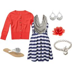 This is cute for Summer!! Love Coral!