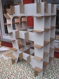 steckverbindung m bel aus pappe selber bauen lovely pinterest m bel aus pappe pappe und. Black Bedroom Furniture Sets. Home Design Ideas