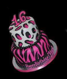 Easy Cheetah Print Cake