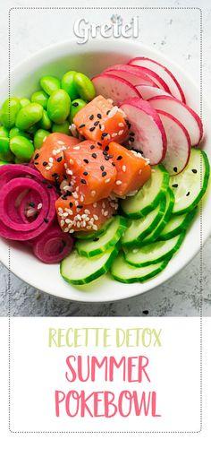 Préparez votre summer body en douceur avec cette gourmande recette fruitée de pokebowl. #gretelbox #pokebowl #recette #detox #pokebowlrecette