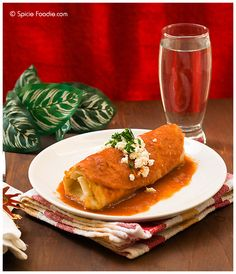 Hubby's Enchilada Style Chimichangas (Tex-Mex Recipe) -- Use Las Palmas products for authentic Mexican flavor #Tex-Mex #Chimichanga #Mexican #LasPalmas #enchilada laspalmassauces.com