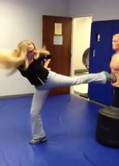 Fiona Quinn Fighting in Handcuffs