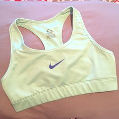 Nike Dri-fit Sports Bra Worn once, mint colored sports bra in brand new condition! Too small for me Nike Intimates & Sleepwear Bras
