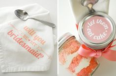 DIY: 'Be My Bridesmaid' ombre cupcakes in a jar