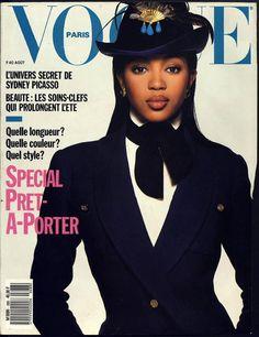 Naomi Campbell en couverture du numéro d'août 1988 de Vogue Paris http://www.vogue.fr/thevoguelist/naomi-campbell/75