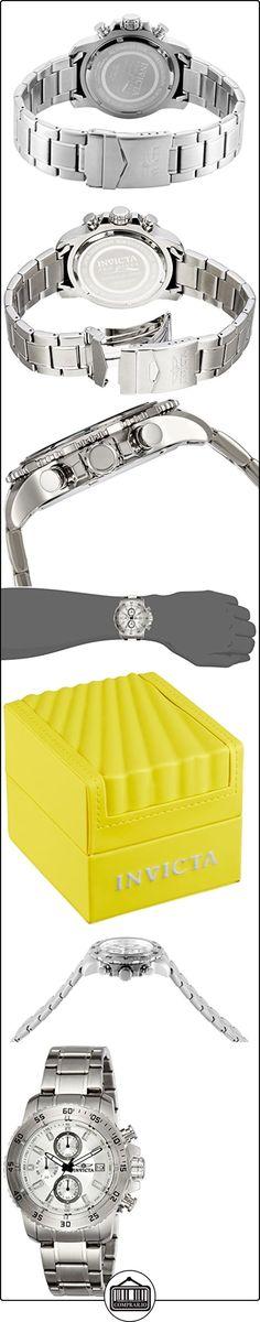 Invicta 21570 - Reloj de cuarzo para hombres, color plata  ✿ Relojes para hombre - (Gama media/alta) ✿