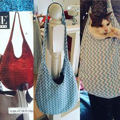 [Vogue Accesories bag 605] First time finishing a pattern - steep learning curve! Grumpy cat model included. #sewing #crafts #handmade #quilting #fabric #vintage #DIY #craft #knitting