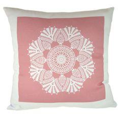 Capa Almofada Modern Doilly Full - Rosa Antigo - Exclusiva