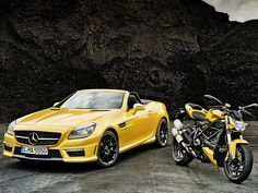 Mercedes-Benz SLK 55 AMG and Streetfighter 848