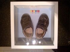 Baby's first shoes display box - IKEA Hackers