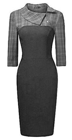 39 Super ideas for dress elegant work Neckline Designs, Blouse Designs, Dress Outfits, Fashion Dresses, Dresses Elegant, Work Attire, Mode Inspiration, African Dress, Mode Style