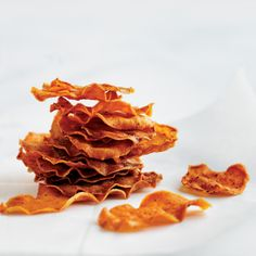 These homemade sweet potato chips are healthy, delicious and easy to make.