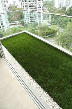 grass in balcony for morning walk in your home. lazy bone