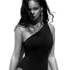 like for more : iconsbadgalriri Rihanna Vogue, Outdoor Photography, One Piece, Photoshoot, Portrait, Instagram Posts, Swimwear, Model, Black