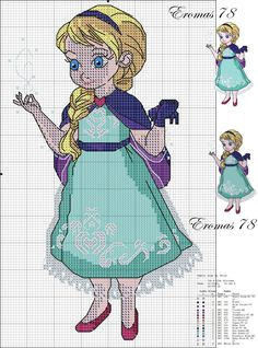 Picture only - Else disney frozen Cross stitch pattern