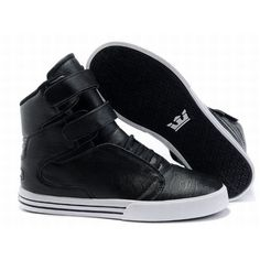 Supra TK Society High Tops Black/White Mens 26625-e4pgM3 Tops
