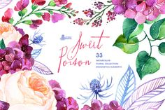 Sweet Poison. Floral collection by OctopusArtis on Creative Market