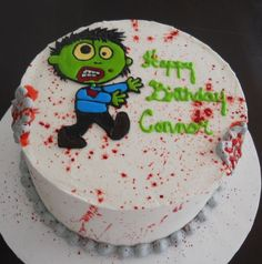 Zombie cake topper by Claytastic Cake Toppers nerd lovin