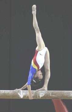 Ana Porgras (Romania) on balance beam at the 2009 World Championships
