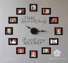 Love this! I want to make this in my family room! Could be made cheap with $1.99 4x6 frames from ikea