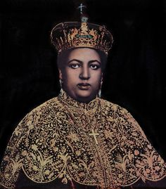 Her Imperial Majesty (H.I.M.) Empress Menen of Ethiopia and wife of Haile Sellassie I - The Queen of Kings and the Queen of Hearts.