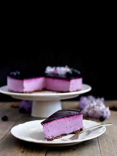 Borůvkové zrcadlo - nepečený tvarohový dort Baked Goods, Party Time, Blueberry, Cake Recipes, Panna Cotta, Delish, Food Photography, Cheesecake, Deserts