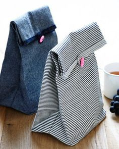 Button Lunch Bags | Purl Soho - Create