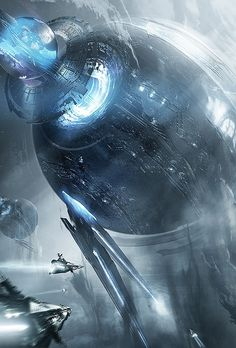 Hot Concept Art by Adam Burn. It reminds me of the Death Star