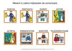 Meserii in cadrul mijloacelor de comunicare Romanian Language, Preschool, Playing Cards, 21st Century, Writers, Journaling, Kindergarten, Cards, Game Cards