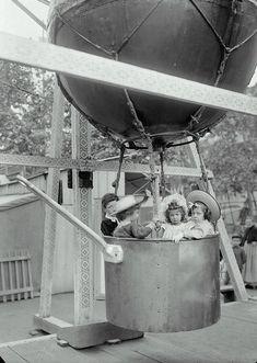 Paris, Luna Park, Ferris Wheel with Hot Air Balloons, 1910