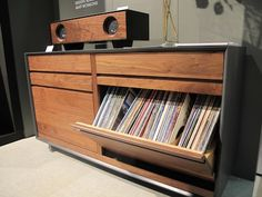 Record player and storage by Symbol Audio via core77