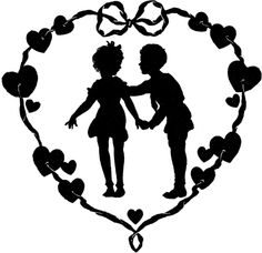 This is a collection of 12 Vintage Valentine Images! These are mostly black & white images, showing Silhouettes of Hearts, Cupids, Romantic Couples & More! Graphics Fairy, Vintage Couples, Romantic Couples, Retro Images, Vintage Images, Vintage Pictures, Vintage Art, Black N White Images, Black And White