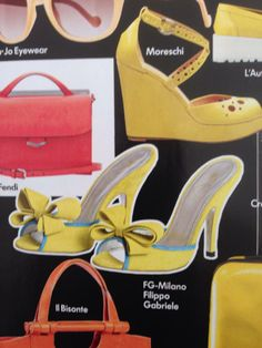 Yellow style published in Vogue Accessory