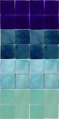 blue ombre floor tiles - Google Search