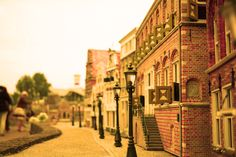 Miniature street, point of view. Madurodam, The Netherlands