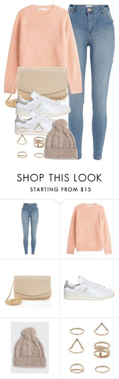 """""""Untitled #11996"""" by vany-alvarado ❤ liked on Polyvore featuring River Island, Vanessa Bruno, Chanel, adidas, Topman and Miss Selfridge"""