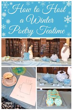Snowflake cookies, hot cocoa, and winter concrete poems were some of the fun we had at our Winter Poetry Teatime.