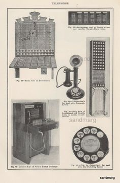 Telephone Switchboards and Mechanics from 1887 to 1928 by sandmarg, $11.49