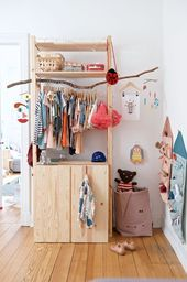 DIY wardrobe Ikea Ivar fast and cheap, - Ikea DIY - The best IKEA hacks all in one place Ikea Storage, Closet Storage, Bedroom Storage, Storage Ideas, Organization Ideas, Closet Shelves, Ivar Ikea Hack, Ikea Hacks, Hacks Diy