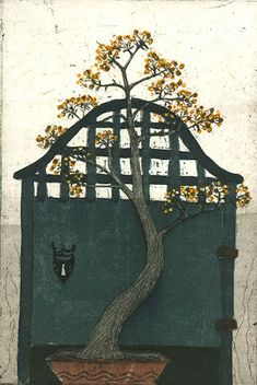 Kirsi Neuvonen, King's Gate (2011) Female Painters, 2d Art, Water Lilies, Helsinki, Finland, Illustrators, Folk Art, Gate, Clouds