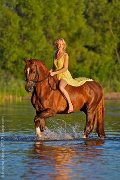 This is what I really want to do, ride bare back through a river or lake :)