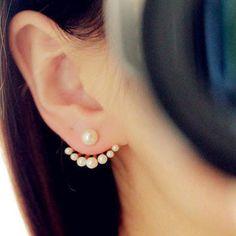 2 Paire Coréenne Style Filles Exquis Simulé Perle Boucles D'oreilles Pour Les Femmes Earing Bijoux De Mode Livraison Gratuite