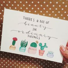 I love this simple hand lettering card!