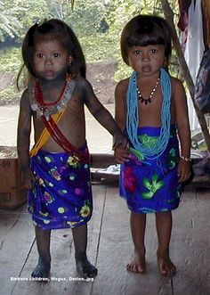 Juan Caisamo and Marcedonio Barrig | Peace Corps | Traditional Dress | Indigenous Population | Little Children | Darien, Panama | Isthmus of Panama |