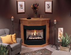 Bay Front Vent-free Fireplace System - Close Outs & Discontinued Items - Products - Unfinished Chimney Decor, Corner Fireplace, Decor, Diy Fireplace, Propane Fireplace Indoor, Living Room With Fireplace, Floor Design, Fireplace, Corner Gas Fireplace